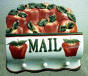 New Apple Ceramic mail holder