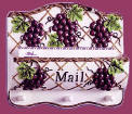 A Grape Ceramic mail holder