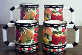 Country Fruit Ceramic 4pc Mug Set