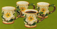 A Magnolia Ceramic Mug Set