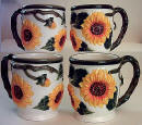 Sunflower Ceramic Mug Set