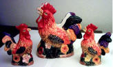 A Ceramic 3pc sugar creamer set - New rooster- CLEARANCE !!!