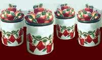 ~ 4 pcs nouveaux pots en céramique de pomme