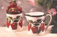 ~ Nouveau sucrier aux pommes en céramique, pot de crème