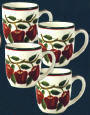 Ceramic 4pc mug set - New Apple