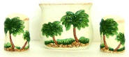 Palm Tree 3pc napkin set