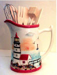 A Lighthouse Pitcher Utensils Holder