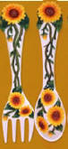 sunflower Ceramic wallhung utensils