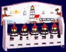 A Lighthouse Ceramic 6pc spice rack