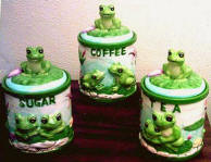 Frog 3 Ceramic Storage Jar/Canisters