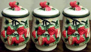Strawberry 3 Ceramic Storage Jar/Canisters