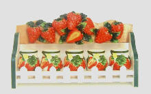 Strawberry Ceramic 6pc spice set
