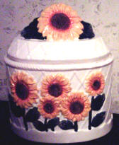 Sunflower Ceramic Cookie jar-CLEARANCE!!!