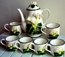 A Teaset - Ceramic Calla Lily