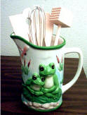 Frog Pitcher-Utensil Holder