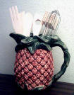`Pineapple Ceramic  Pitcher - Utensil Holder