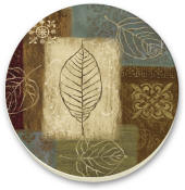 Leaf collage Cork-Backed Cork-Backed Tile Trivet