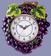 A Grape Shape Ceramic Wallclock