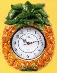 `Wallclock Tropical Pineapple Shaped Ceramic