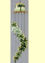 Palm Tree Ceramic wind chimes