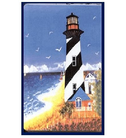 A Coastal/Nautical Beach Lighthouse  Rectangular Burner Covers