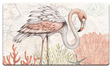 Anti Fatigue Floor Mat Beach Flamingo Shoreline