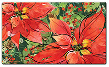 Anti Fatigue Floor Mat Joy Poinsettia