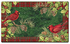 Anti Fatigue Floor Mat Cardinal Wreath