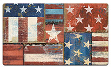Anti Fatigue Floor Mat Patriotic Patchwork