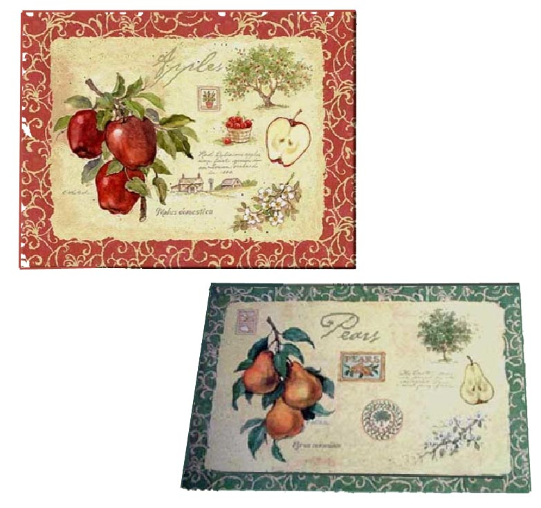 * Apple Orchard Reverses to Pears  4 Plastic Placemats
