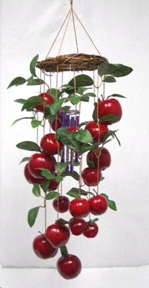 Apple Wind chime-Realistic Round Apple Windchimes