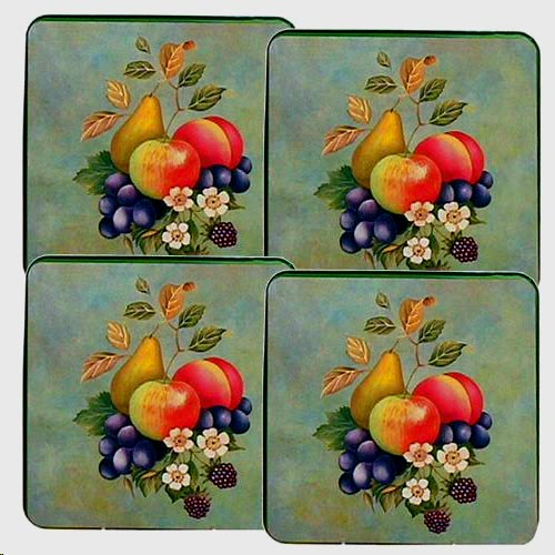 New Green Fruit-square  Metal Burner Covers