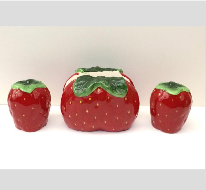 ~ Strawberry Ceramic Salt/Pepper Napkin Holder