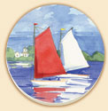 Bright Boats Coastal Coaster Set of 8