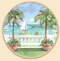 Ballistrade Palms Coaster Set of 8