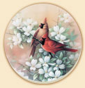 A set of 8 Cardinals Bird Coasters