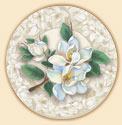 Magnolias Floral Coaster Set of 8