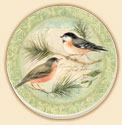 A Garden Bird Coaster Set of 8 - Rejoice