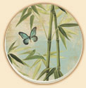 Bamboo Floral Coaster Set of 8