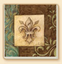 Antique Fleur De Lis 2 Patterns Coaster Set of 8