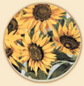 A Set of 8 Coasters - Sunflowers