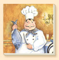 A Gourmet Chef Delectables Coaster Set of 8