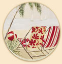 Beach Chic 4 Coastal Patterns Coaster Set of 8