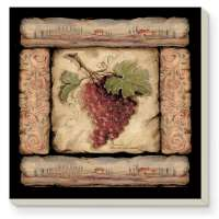 Tuscan Grape Collage Delectables Coaster Set of 8