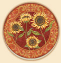 A Set of 8 Coasters - Provence Sunflower