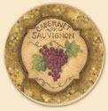 Grand Vin Wine Grape Coaster Set of 8