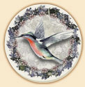 Hummingbird Birds Coaster Set of 8