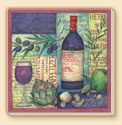 Coasters Set of 8 - Wine Collage