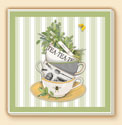 Tea Time Delectables Coaster Set of 8