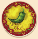 Spicy Chili Peppers 4 Patterns Southwestern Coaster Set of 8